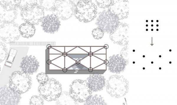 9 Dot House Concept Diagram and Site Plan