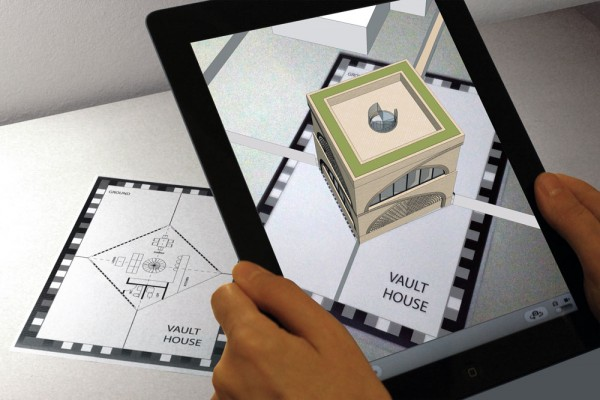 Artist impression of CAD model viewed through AR