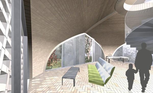Vault House Interior View